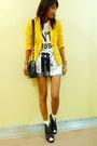 Yellow-thrifted-blazer-white-proudrace-shirt-black-ichigoshoes-shoes-yello