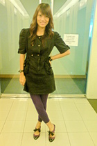 vintage dress - purple tights - ichigo shoes