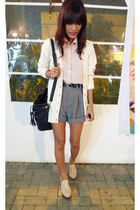 off white ferreti shoes - light pink borrowed from brother shirt - black Archive