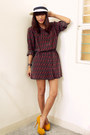 Crimson-archive-clothing-dress-yellow-asianvogue-heels