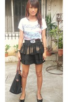 DIY skirt - The rolling stones shirt - Gino Vitori shoes