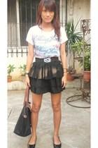 DIY skirt - The rolling stones shirt - Gino Vitori shoes