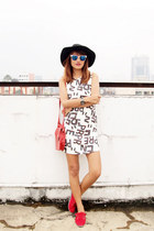 off white SM GTW dress - navy Forever 21 hat - blue sm accessories sunglasses