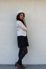 Blue-urban-outfitters-dress-brown-style-co-shoes-gray-forever-21-top-white