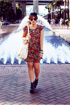 miss cherry dress - Jeffrey Campbell boots - Topshop hat - Ray Ban sunglasses