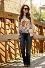Flare-jeans-citizens-of-humanity-jeans-karen-walker-sunglasses