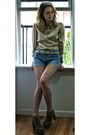 Gold-satin-ann-taylor-shirt-sky-blue-jean-lei-shorts-lita-platforms-jeffrey-