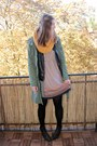Forest-green-street-one-boots-beige-ernstings-family-dress