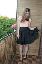 black Carousel skirt - peach Cubus shirt - burnt orange H&M flats