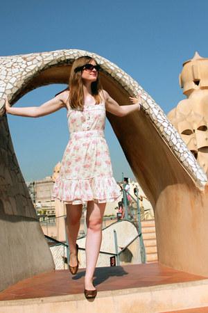 floral dress Mango dress - cat eye asos sunglasses - H&M flats