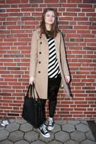 black velvet H&M Kids leggings - beige Cubus coat - black new look bag