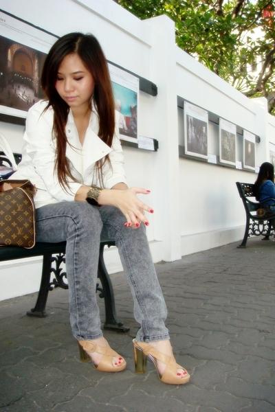 Forever21 jacket - Cheap Monday jeans - Louis Vuitton purse - Nine West shoes
