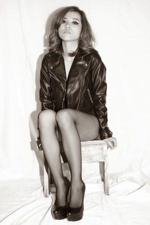 pu leather H&M jacket
