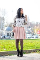 OASAP bag - H&M boots - OASAP socks - OASAP skirt