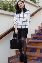 PERSUNMALL blouse - İnci Deri shoes - İnci Deri bag - Bellastcom earrings