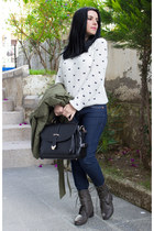 Sheinside sweater - Sheinside coat - Sheinside jeans - OASAP bag