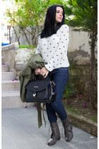 Sheinside sweater - Sheinside coat - Sheinside jeans - OASAP bag