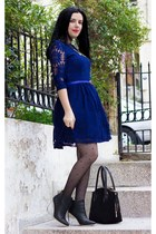 Zealotries boots - Sheinside dress - sammydress tights - Zealotries necklace