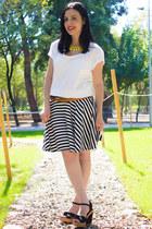 Omgfashioncom skirt - Romwecom necklace - Mango t-shirt