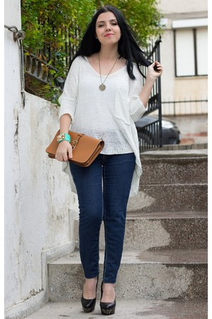 romwe sweater - Sheinside coat - OASAP bag - Rings & Tings bracelet
