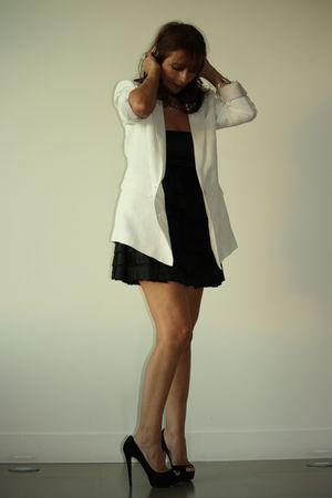 black babydoll H&M dress - black red black Christian Louboutin shoes