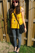 top - jeans - Dolce Vita shoes - purse