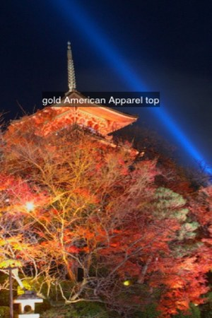 gold American Apparel top