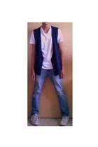 Ross t-shirt - Armani Exchange vest - PacSun jeans - Converse shoes