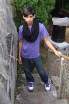 Hurley t-shirt - American Apparel scarf - PacSun jeans - nike shoes