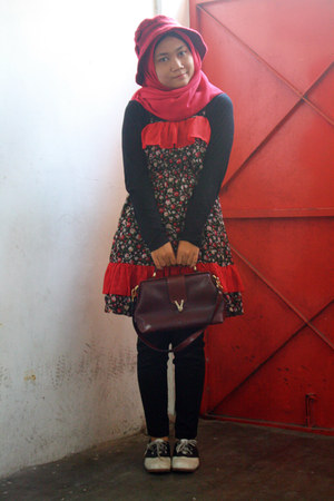 red DIY dress