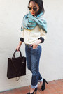 dooney & burke bag - Guess jeans - emporio armani heels - See by Chloe top