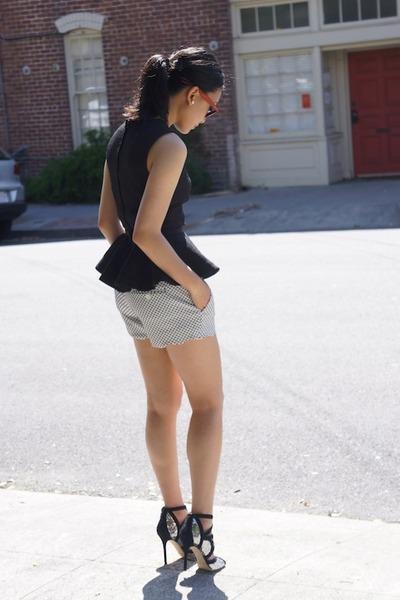H&M top - Club Monaco shorts - Ray Ban sunglasses - Jimmy Choo heels
