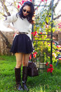 See by Chloe sweater - Ralph Lauren boots - Gap shirt - dooney & burke bag