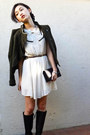 Forever 21 dress - Ralph Lauren boots - BCBGMAXAZRIA jacket - Marc Jacobs bag