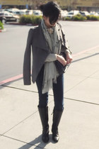 Joes Jeans jeans - Ralph Lauren boots - BCBG jacket - Rebecca Taylor sweater