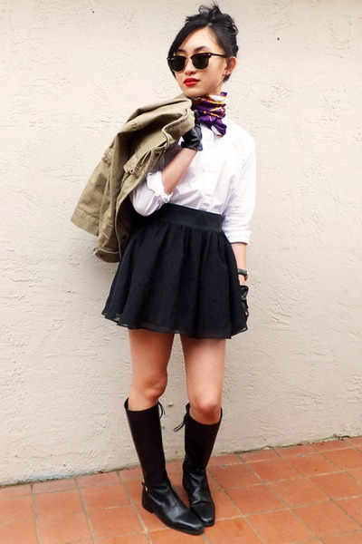 Ralph Lauren boots - J Crew jacket - Ralph Lauren shirt - H&amp;M skirt