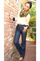 from Macau scarf - Diesel pants - Jimmy Choo flats - See by Chloe blouse