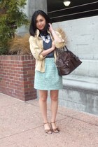 Zara skirt - Urban Outfitters jacket - Theory top - Zara sandals