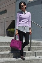 Salvatore Ferragamo bag - Gap sweater - kensie shirt - Zara pants - Aldo flats