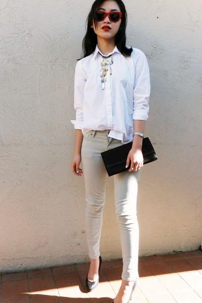 jordache jeans - Ralph Lauren shirt - Jimmy Choo heels