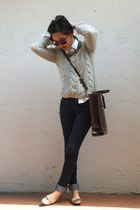 Rebecca Taylor sweater - Joes Jeans jeans - Ralph Lauren shirt