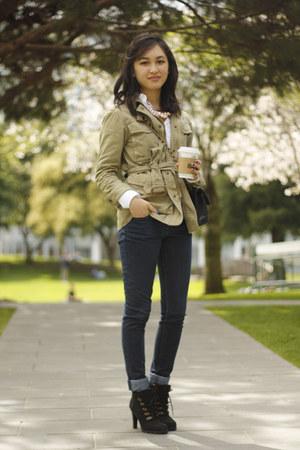 Ralph Lauren boots - Joes Jeans jeans - JCrew jacket - Ralph Lauren shirt
