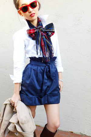 BCBGeneration skirt - Ralph Lauren shirt - Nordstrom scarf - Ray Ban sunglasses