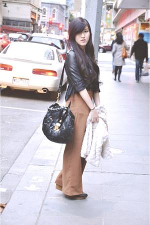 Zara boots - Miu Miu bag - Topshop pants