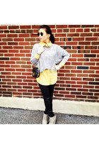 Z Spoke by Zac Posen purse - ray-ban sunglasses - faux leather H&M pants