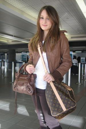Michael Kors jacket - Louis Vuitton bag - balenciaga bag
