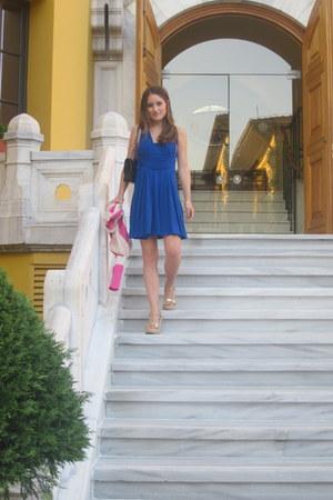 issa dress - Chanel bag