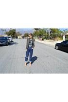 dark green camo Target blazer - boyfriend jeans Wrangler jeans