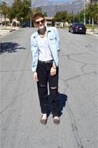 white white shirt Target t-shirt - black boyfriend jeans Wrangler jeans