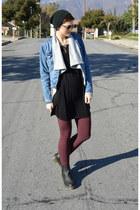 black black boots Dr Martens boots - denim jacket Levis jacket